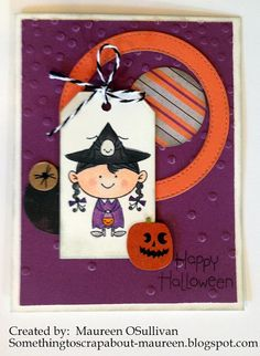 Let's Give 'em Something to Scrap About!: CTMH Halloween Card-- Little Monsters