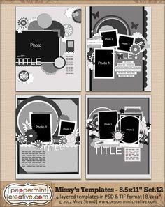 Missy's Templates Set.12 (8.5x11) @Melissa Brown Carlson-Strand