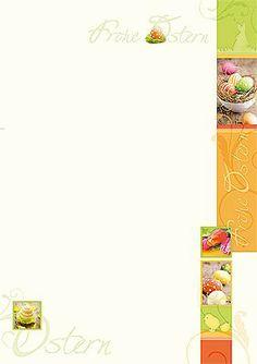 #Briefpapier #Ostern mit bunten Ostereiern und Tulpen