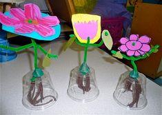 Model of the plant parts Kindergarten Units, Kindergarten Projects, Kindergarten Learning, Kindergarten Worksheets, Parts Of A Flower, Parts Of A Plant, Science Lessons, Science Projects, Art Projects