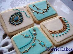 Jewelry cookies - I'll never make them but they are beautiful!
