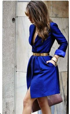 In style with blue