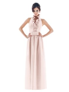 Alfred Sung D469  Fabric: Dupioni  Color: Pearl Pink *(see champagne)