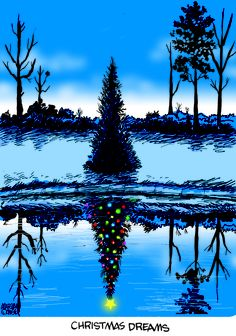 Super cute painting idea - Christmas Dreams