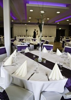 The Wyrebank Wedding Suite dressed to impress! Seating for up to 140 guests. Wedding Suite, Dress To Impress, Events, Table Decorations, Home Decor, Decoration Home, Room Decor, Bridal Suite, Dinner Table Decorations