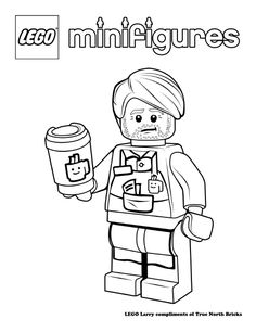 LEGO Colouring Page Owen Grady