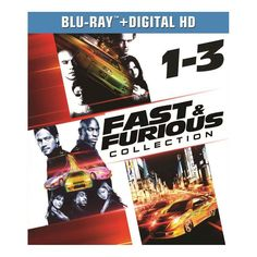 Fast & Furious Collection: 1-3 [3 Discs] [Includes Digital Copy] [UltraViolet] [Blu-ray]
