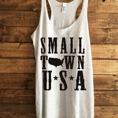 SALE- Small Town USA, Women's trendy tshirt, 4th july tank, shirts for 4th of july, american flag shirt, american flag tank, racerback