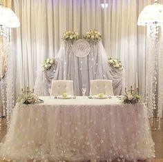 White White White... sweetheart table