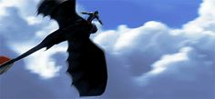 HTTYD2 ....Hiccup and Toothless. Wish I could soar like these two.