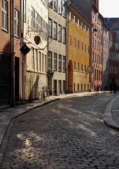 Old street in Copenhagen