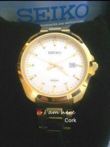 Brand New Classic Seiko Men's Dress Watch 100m Mens Dress Watches, Watches For Men, Cork City, Seiko Men, 100m, Watch Faces, Jewelry Stores, Men Dress, Brand New