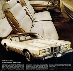 1974 Ford Thunderbird with White and Gold Luxury Group
