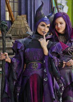 Disney's Descendants' Mal and Maleficent