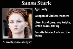 Game of Thrones Trading Cards -Sansa Stark