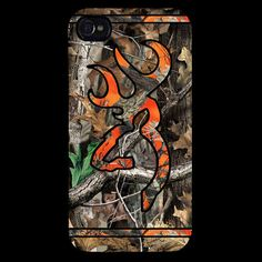Country Hunters Orange and Camo Buck iPhone 4 / 4S or iPhone 5 Case
