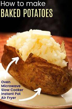 Pressure Cooker Baked Potatoes, Crock Pot Baked Potatoes, Making Baked Potatoes, Potatoes In Oven, Stuffed Baked Potatoes, Russet Potatoes, Crockpot Dessert Recipes, Crock Pot Desserts, Sweets Recipes