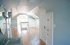 attic master suite transformation http://kellyraeroberts.blogspot.com/2010/07/home-renovation-update.html#.T8bJks2JmFx