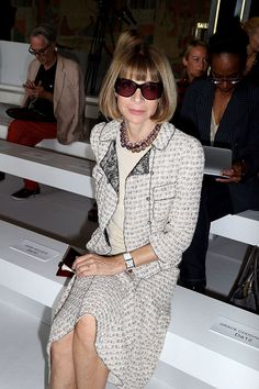 Anna Wintour at Rochas S/S 2014