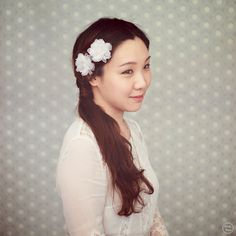 Small Wedding Hair Flower  Silk Flower  Wedding by wishpiece, $48.00