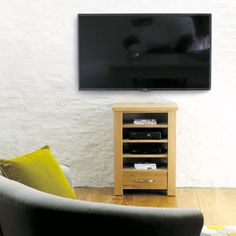 Baumhaus Aston Oak Home Entertainment Cabinet - CVR09C - By TV Size - TV Furniture