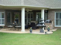E-Beautiful Terrace Porches! Back Porch Designs, Patio Deck Designs, Patio Design, Garden Design, Porch Ideas, Patio Ideas, Yard Ideas, Outdoor Living, Outdoor Decor