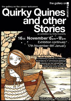 "EDINBURGh: Gallery on the Corner. Anita Inverarity ""Quirky Quines and other stories""  to 6 Jan. http://www.thegalleryonthecorner.org.uk/quirky-quines-and-other-stories1.html#"