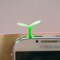 http://www.cell-wear.com/ear-jack-caps.html  #earjackcaps #fenice #design #cellphone #accessories #green #leave #samsung #galaxy #s4