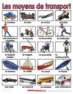Les moyens de transport French Teacher, Teaching French, French Trip, French Flashcards, Learn To Speak French, Core French, French Education, French Classroom, French Resources