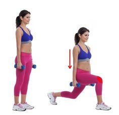 Dumbbell rear lunge Workout Best Exercises To Have The Butt of Your Dreams Conditioning Workouts, Toning Workouts, Curves Workout, Butt Workout, Combattre La Cellulite, Gluteal Muscles, Glute Kickbacks, Glute Bridge, Leg Workouts