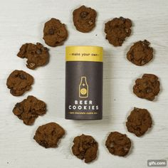 Enjoy knocking back a tasty craft ale? Love tucking into some decadent, gooey cookies? Not a big fan of messy baking? Beer Cookies, Gooey Cookies, Tub Of Butter, Craft Ale, Make Your Own Beer, Dark Chocolate Cookies, Cookie Jars, Tray Bakes, Dog Food Recipes