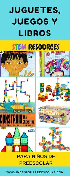 Construction Toys for Active Toddlers and Preschoolers - STEM Toys and Resources for Preschool - Recursos STEM - Ingeniería Preescolar Engineering Projects, Stem Projects, Toddler Preschool, Toddler Toys, Stem Activities, Activities For Kids, Construction Toys For Toddlers, Stem Challenges, Destination Imagination