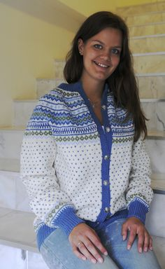 Anna Knit Jacket, Sweater Jacket, Norwegian Knitting, Fair Isle Knitting, Fair Isles, Sweaters, Cardigans, Women, Ayurveda