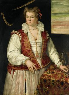 1565-1575 attributed to Francesco Montemezzano Portrait of a Woman with a Squirrel