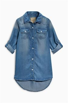 Denim Shirt Dress (3-16yrs) (110263) | £13 - £18