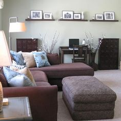 Family Room Brown Sofa, Small Room Design, Pictures, Remodel, Decor and Ideas - page 6