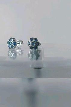 Sapphire Earrings, Stud Earrings, Sterling Silver Earrings Studs, Beautiful Earrings, Blue Sapphire, Natural Gemstones, Etsy Store, Invite, Gifts For Her
