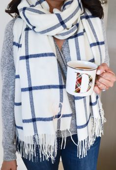 Trendy how to wear cute outfits casual blanket scarf ideas Fall Outfits, Casual Outfits, Cozy Outfits, Prep Style, Dress Out, Blanket Scarf, Mode Style, Dress To Impress, Autumn Fashion