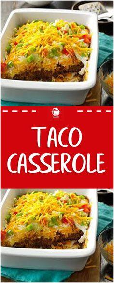 Taco Casserole#taco #casserole Beef Casserole Recipes, Taco Casserole, Steak Recipes, Casserole Dishes, Cooking Recipes, Supper Recipes, Entree Recipes, Mexican Food Recipes, Ethnic Recipes