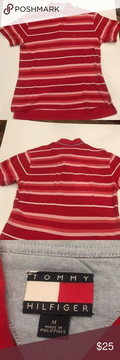 Tommy Hilfiger Men's Polo Shirt. Size-Medium Tommy Hilfiger Men's Red Polo Shirt. Size-Medium Tommy Hilfiger Shirts Polos