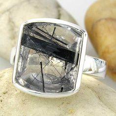 Rutile Rutilated Quartz Sterling Silver Ring  Ready by ChadaSoph, $99.00
