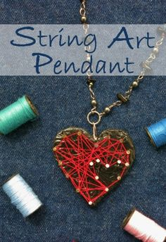 How to Make a Polymer Clay String Art Pendant