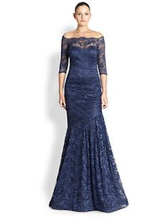 Teri Jon - Lace Off-Shoulder Gown LIAN
