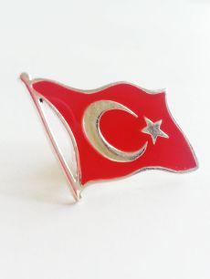 925 ayar gümüş,Türk bayrağı rozet(RZ00005)