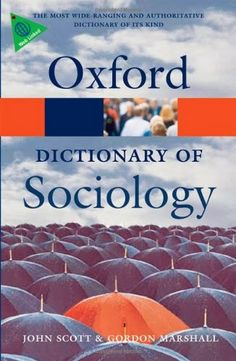 A Dictionary of Sociology (Oxford Dictionary of Sociology)   Bookz Ebookz