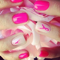See these lovely Bio Sculpture nails by @janebio for Breast Cancer Awareness Month