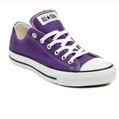 Purple WOMANS Low Top Converse Worn but still in great condition! Ships Immediately! Converse Shoes Sneakers