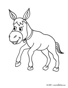 donkey coloring page you can choose a nice coloring page from farm animal coloring pages for kids enjoy our free coloring pages - Pictures Farm Animals Color