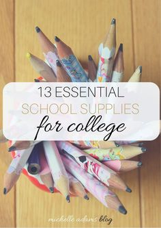 13 Essential School Supplies for College Students | Michelle Adams Blog