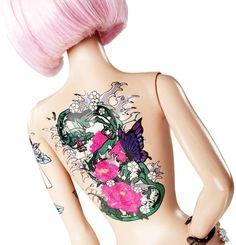 Tattoo Barbie.